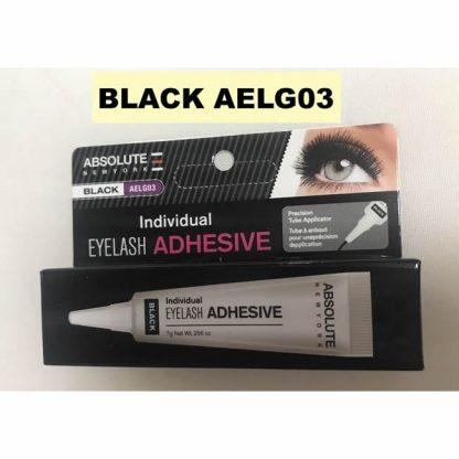 Absolute New York Eyelash Adhesive Tube - Black - Authentic Cosmetics - Original Makeup Products - Original Cosmetics Nigeria - False Eyelash Glue - Lagos - Abuja - Port Harcourt - Nigeria