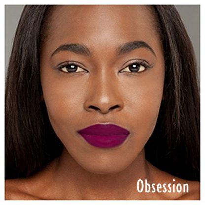 Milani Amore Matte Lip Creme - 18 Obsession - Lip Swatch A - Liquid Lipstick - Matte Lipstick - Original Cosmetics Nigeria - Original Milani Products - Lagos - Abuja - Port Harcourt
