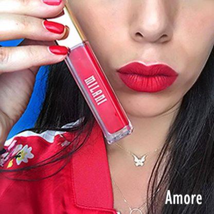 Milani Amore Matte Lip Creme - 22 Amore - Lip Swatch - Liquid Lipstick - Matte Lipstick - Original Cosmetics Nigeria - Original Milani Products - Original Makeup - Lagos - Abuja - Port Harcourt