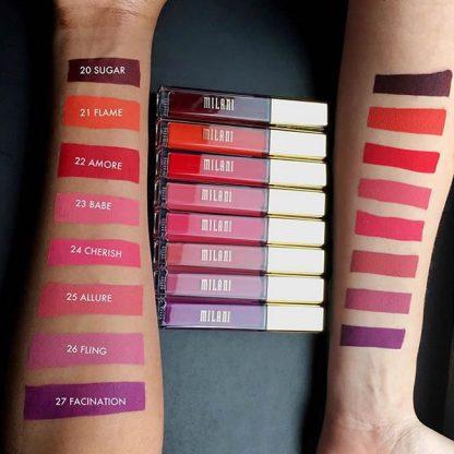 Milani Amore Matte Lip Creme Swatch B - Liquid Lipstick - Matte Lipstick - Original Cosmetics Nigeria - Original Milani Products - Original Makeup Products - Lagos - Abuja - Port Harcourt