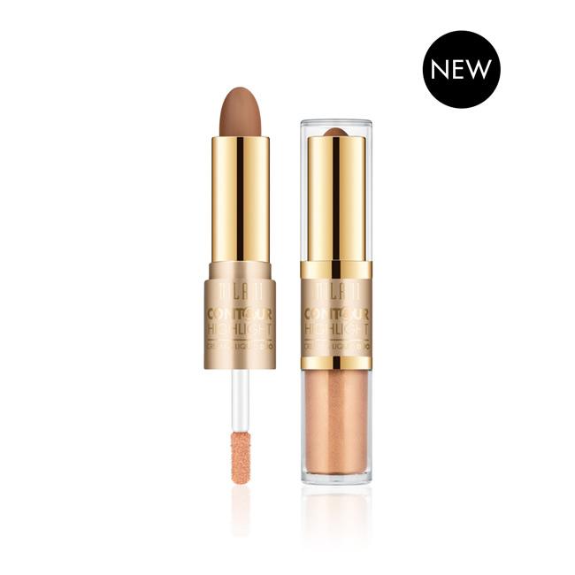 Milani Contour & Highlight Cream & Liquid Duo - 04 Medium-Dark - Authentic Cosmetics