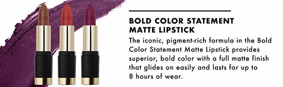 Milani Bold Color Statement Matte Lipstick - Original Cosmetics Nigeria - Original Makeup Products - Milani Cosmetics Nigeria - Lagos - Abuja - Portharcourt - Lekki - Surulere - Kano - Kaduna