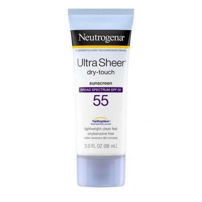 Neutrogena Ultra Sheer Dry-Touch Sunscreen Broad Spectrum SPF 55 - Suncreen Lotion - Neutrogena Nigeria - Original Cosmetics Nigeria - Original Skincare Products - Lagos - Abuja - Port-Harcourt