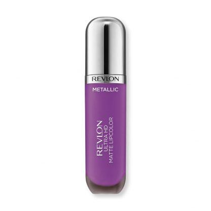Revlon Ultra HD Metallic Matte Liquid Lipcolor - 710 Dazzle - Purple Color - Revlon Matte Lipcolor - Revlon HD Lipcolor - Revlon Metallic Lipcolor - Original Cosmetics Nigeria - Lagos