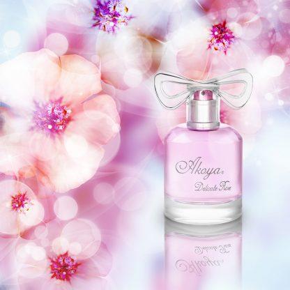 Akoya Delicate Rose By Paris Bleu - Perfumes for Women - Eau de Parfum for Women - French Designer Perfumes - Paries Bleu Parfums - Original Cosmetics Nigeria - Lagos